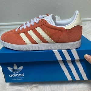 Adidas GAZELLE SHOES Raw Amber / Cloud White